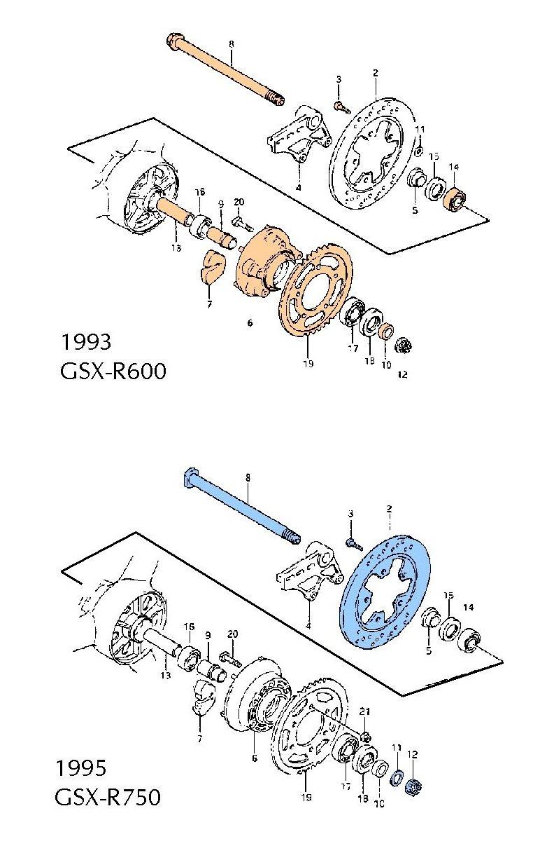 89-92 GSXR 750 GSXR 1100 1992-1993 88-93 Suzuki F+R Brake Pads GSXR 600