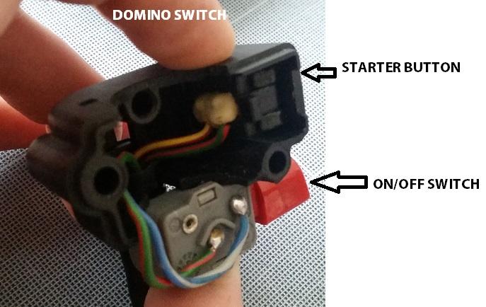 Suzuki GSXR1000  Green Domino Starter Kill Switch
