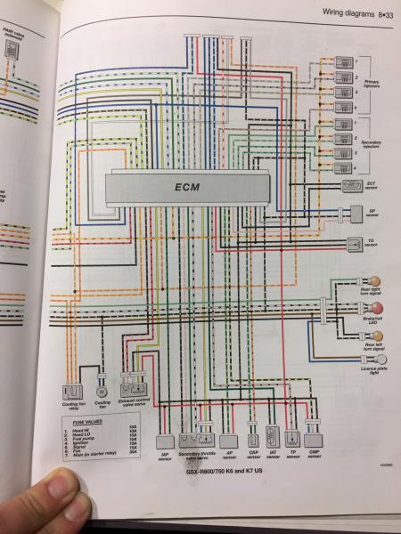 suzuki gsx r fuel pump wire diagram electrical issues  no end in sight suzuki gsx r motorcycle  suzuki gsx r motorcycle