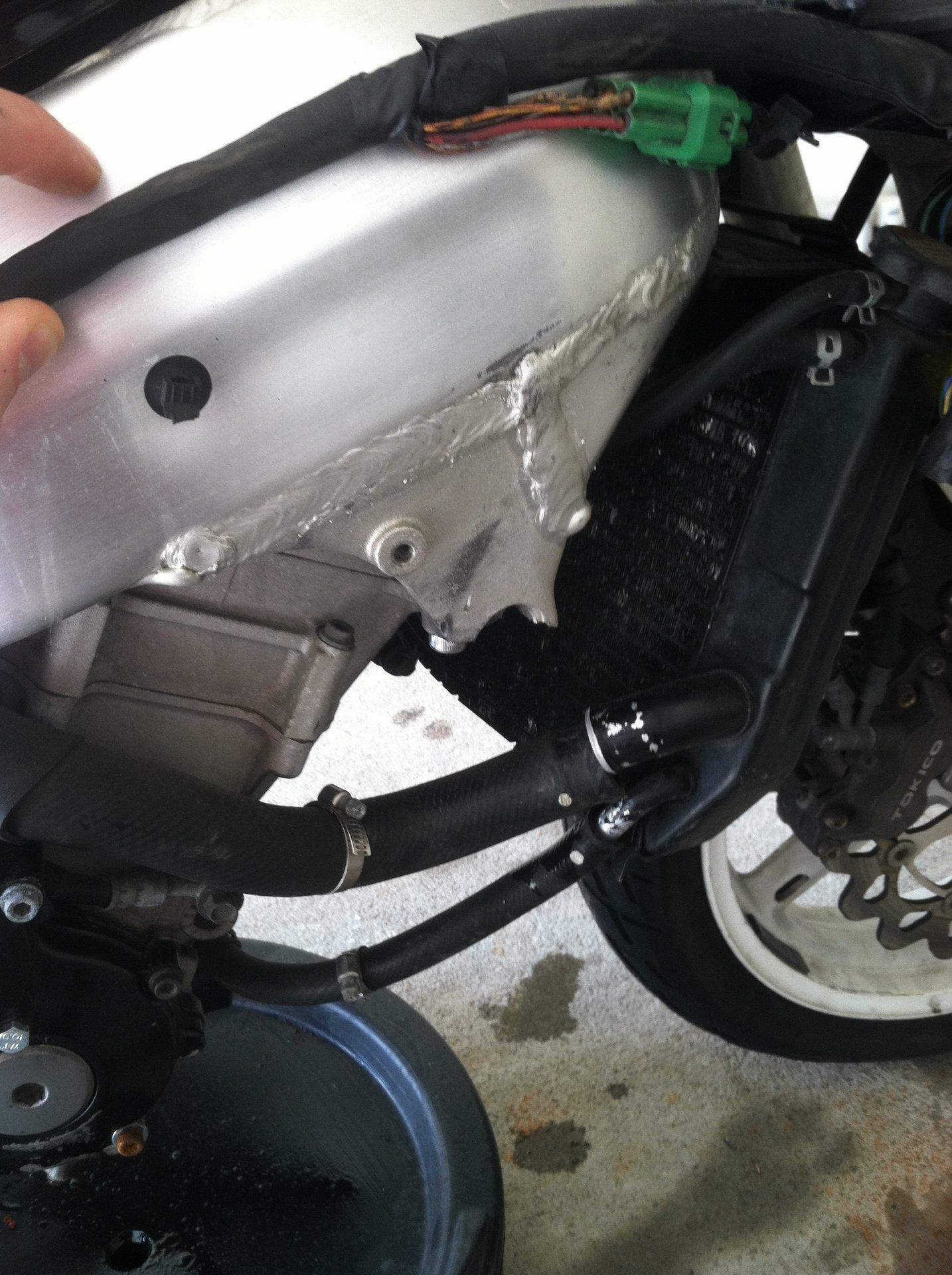 Broken engine mount repair--Help!! | Suzuki GSX-R Motorcycle