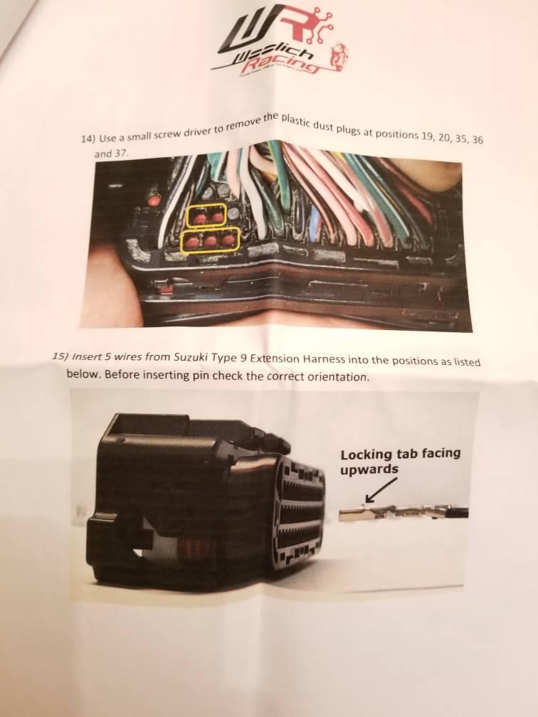 Woolich USB Denso Box & Quick Shifter Install Issue   Suzuki